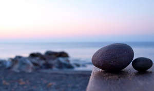 Pebbles on a table